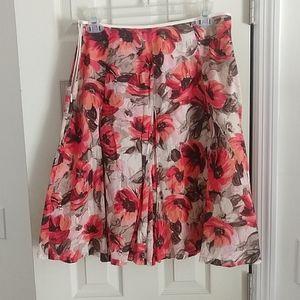 Red poppy skirt